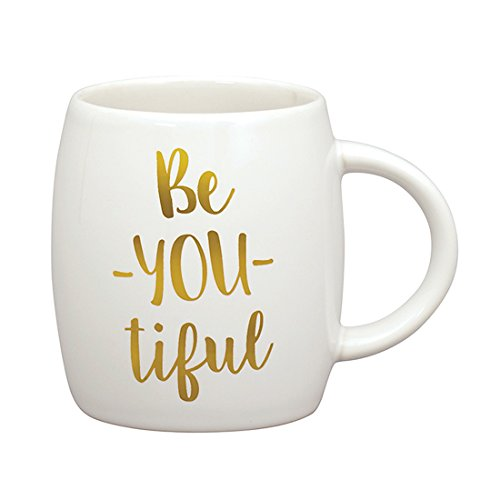 Beautiful Be-You-Tiful White and Metallic Gold 14 ounce - The Shining Coffee Mug