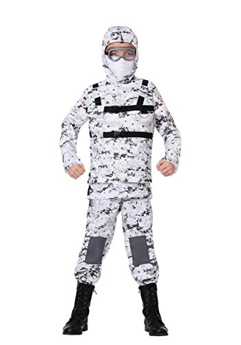 Child Winter Camo Soldier Costume Medium for $<!--$29.99-->