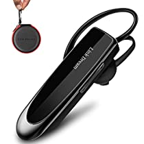 Bluetooth Earpiece Link Dream Wireless Bluetooth Headset Driving Earphone with Noise Cancelling Microphone Handsfree Business in-Ear Headphones Earbuds 24 Hrs Talk Time 60 Days Standby Time for iPhone Android Samsung Laptop Truck Driver