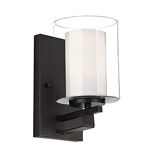 Design House 578153 Impala One Wall Light, Rustic Bronze, 1-Light, 1-Light