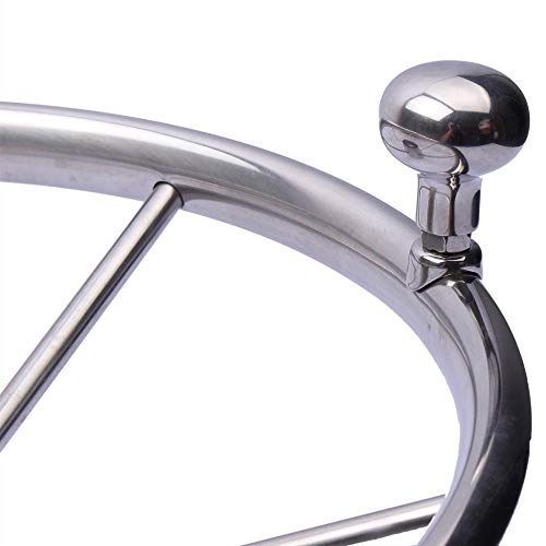 Hoffen Boat Stainless Steel Steering Wheel Knob Steering Wheel Maneuvering Knob