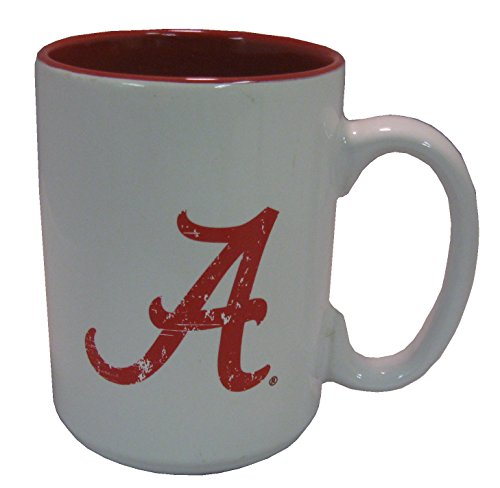 NCAA Alabama Crimson Tide 15 oz Two Tone Ceramic Coffee (2 Tone Red Coffee Mug)