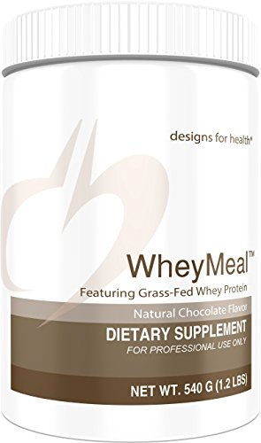 Designs for Health 16g of Grass Fed Whey Protein Powder Chocolate - WheyMeal Chocolate (540g / 15 -