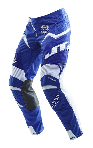JT Racing USA Evolve Protek Dirt Bike MX Motocross Pants with Fader Graphics (Blue/White, Size 30) Motocross Graphics