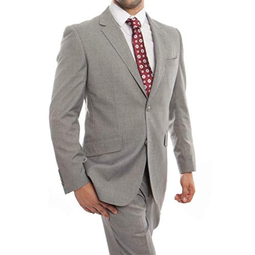 tton Classic Fit Wool Suit New with Notch Lapels(52L/46Waist Regular) ()