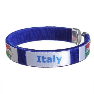 2014 Fifa Brazil Worldcup Sport Soccer Fans Bracelet Wristband For Italy National Team (World Soccer Bracelet)