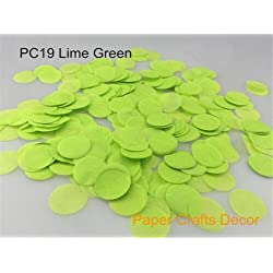 Sopeace 1 inch(2.5cm) Round Tissue Paper Confetti Round Tissue Paper Confetti Wedding Party Table Decorations Balloon Kit, 30g (Lime Green)