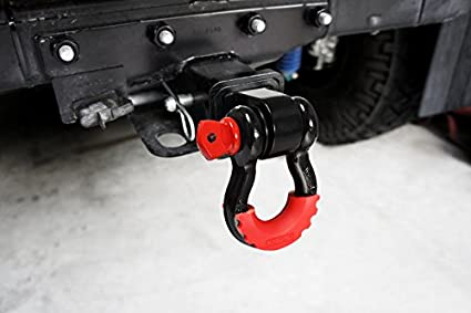 Electro-galvanized and Powder Coated Double Protection Never Rust RTSHRECEIVER2IN Shackle Hitch Receiver 2 Inch LIBERRWAY 11,000 Lbs Capacity Receiver Shackle Bracket Heavy Duty and Solid with 3//4inch D Ring Shackle
