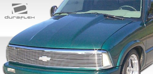 Extreme Dimensions Duraflex Replacement for 1994-2004 Chevrolet S-10 1994-2004 GMC Sonoma 1995-2004 Chevrolet Blazer 1995-2001 GMC Jimmy 98-00 Envoy Cowl Hood - 1 - Kit Dimensions 98 Extreme