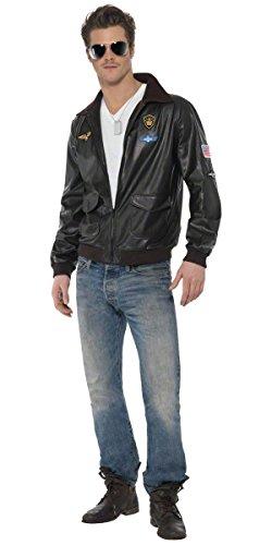 Flight Of Fancy Costumes - Mens Top Gun Bomber Jacket TV