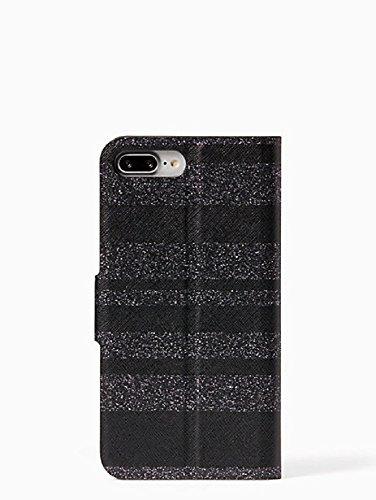 Kate Spade New York Black Glitter Stripe Folio Case for iPhone 7 Plus & iPhone 8 Plus by Kate Spade New York (Image #3)