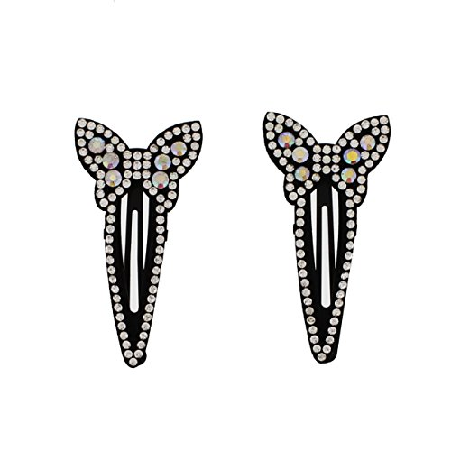 Zac's Alter Ego Pair of 6.5cm Patterned Mini DIamante Stone Snapclips (Hair Ego Care Alter)
