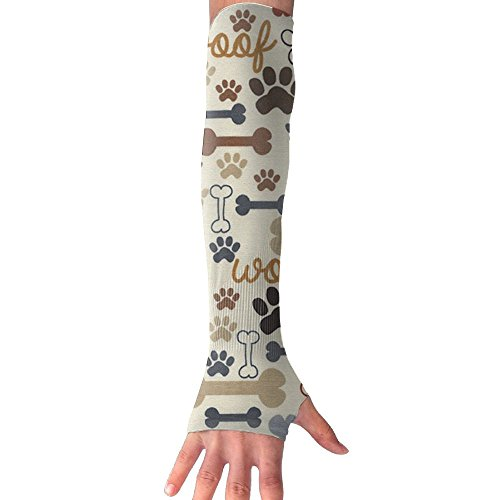 YVGOYH Paw Prints Bones Clutch Arm Sleeves,Coolet Compression Sleeves For The Arm And Elbow. 99% UV Protection And Cooling Ability For Outdoors (Sport Muscle Clutch)