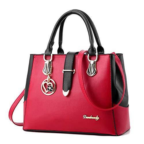 de Mano de 32x13x23cm Rose Topbody Mensajero Cruzada Red Bolso Red Wine Mujer Bolsa TdqZBd