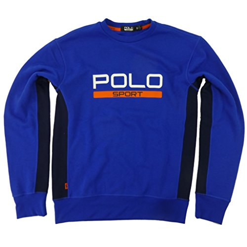Polo Sport Ralph Lauren Men's Performance Fleece Crewneck Sweatshirt Medium Sapphire Star