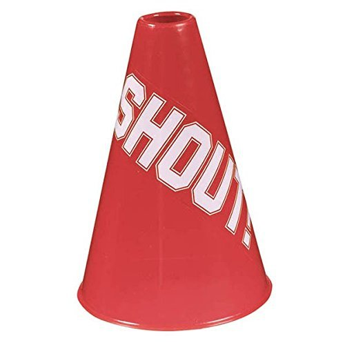 Amscan Sports Party Noisemakers Plastic Megaphones, Red, 5.6 x 5.6