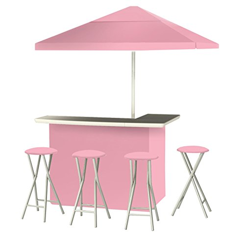 Deluxe Seat Bar Stool - Best of Times Patio Bar and Tailgating Center, Deluxe Package, Pink