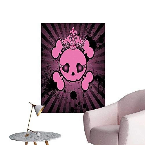 Wall Decals Skull Crown Dark Style Teen Spooky