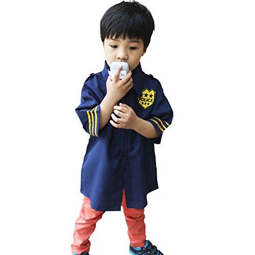 GradPlaza Police Office Costume Dress Up Set Boy Navy Blue (Dress Up Police Uniform)