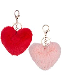 Heart shape Keychain Fluffy and Smooth