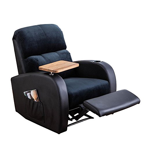 Soges Recliner Chair Sofa Room Chair, Black