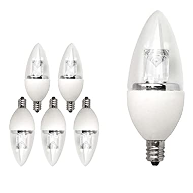 TCP 6 Pack of LED Torpedo - 25 Watt Equivalent (4W) Soft White (2700K) Dimmable Candelabra Base Light Bulb -#LDCT4W27K6