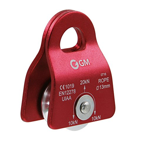 GM CLIMBING UIAA Certified Red Micro Prusik Minding Pulley 1/2