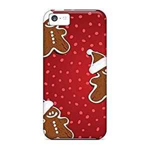 Hot Style cell phone shells Protective Cases Nice iphone 5c case 6p - gingerbread xmas