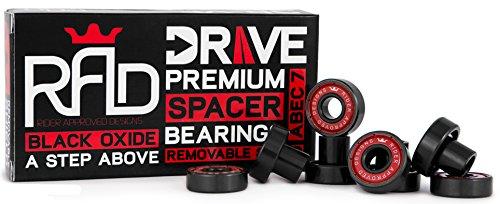 Rad Precision Skateboard Longboard Bearings   Drive Built In Spacer