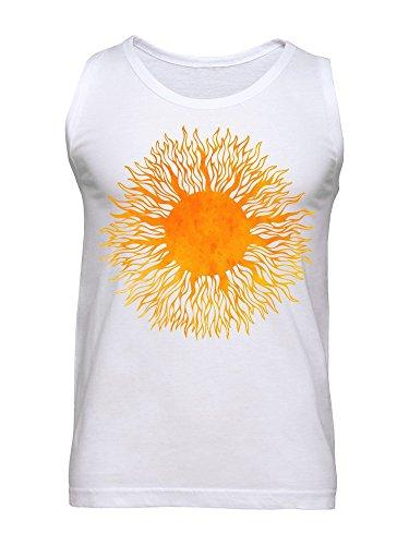 Orange Burning Tattoo Style Sun Men's Tank Top
