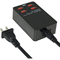 YAFOX 4-Port USB Charger Desktop Charger Charging Station