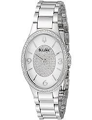 Bulova Womens 96R193 Analog Display Analog Quartz Silver Watch