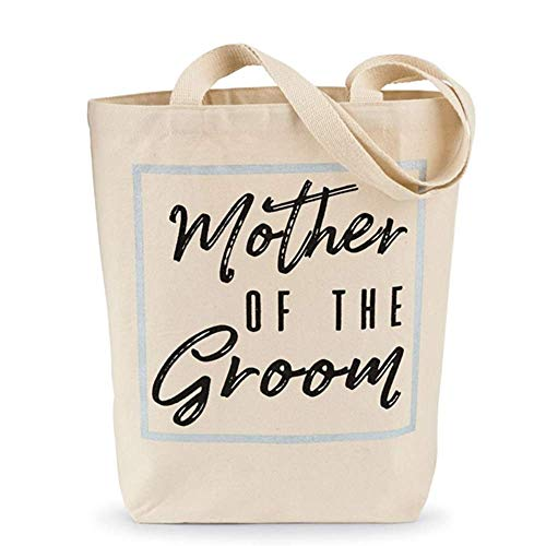 Mother of the Groom Canvas Bridal Tote Bag- ()