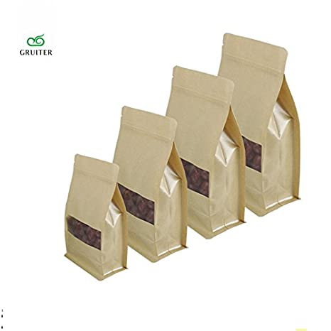 Desconocido Bolsas de Papel Kraft de 20 x 30 cm, 100 ...