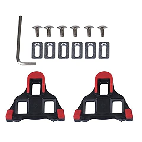 2 x Bicycle Cleats Set, Mosunx(TM) Bike Self-locking Pedal Set For Shimano SM-SH11 SPD-SL (Red) (Bike Cleat Adaptor)