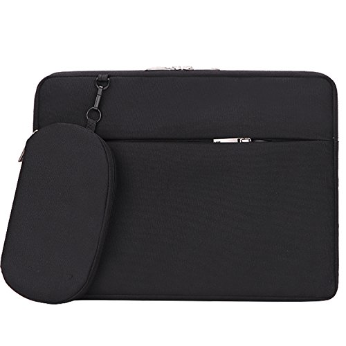 11.6 inch Laptop Sleeve, Laptop Case, Slim Tablet Computer Protective Bag Business Carry Notebook Bag for MacBook Air 11 12, Surface Pro 4 3/Acer, Asus, Dell, HP, Chromebook, Ultrabook - Black ()