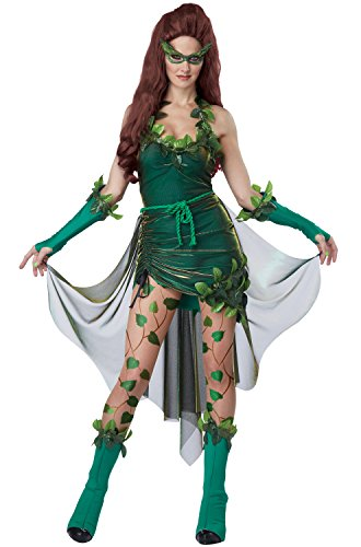 Comic Book Makeup Halloween Costume (California Costumes Women's Eye Candy - Lethal Beauty Adult, Green,)