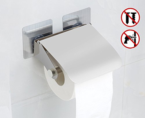 Self Adhesive Toilet Paper Holder,OUREILI Stainless Steel St