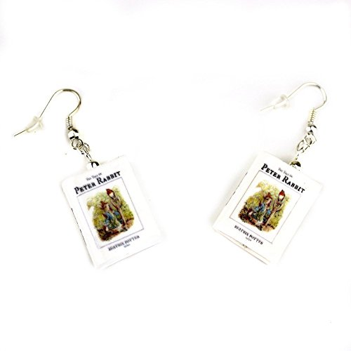 Beatrix Potter's Peter Rabbit Clay Mini Book Earrings by Book Beads Choose Your Earring Hardware (Nursery Rhyme Costumes Ideas)