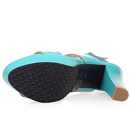 Zanpa Slingback Moda Blue Sandali Heels Donna qUSwqHR