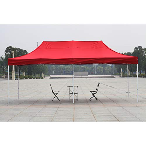 American Phoenix Canopy Tent 10x20 Easy Pop Up Instant Portable Event Commercial Fair Shelter Wedding Party Tent (Red, 10x20)