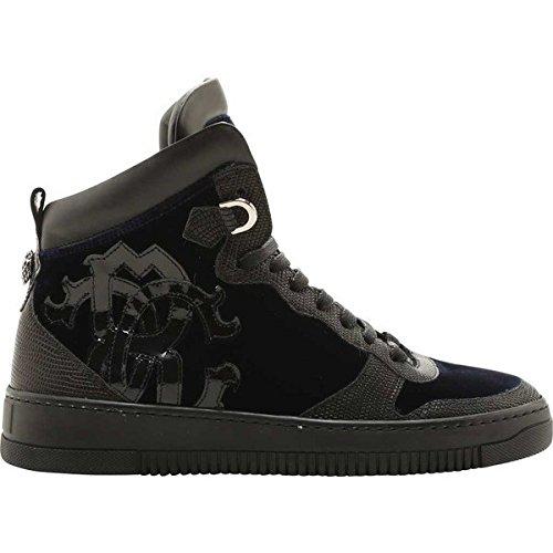 [ロベルトカヴァリ] メンズ スニーカー Bobby Sneaker Navy Velvet [並行輸入品] B07DHP82Y2