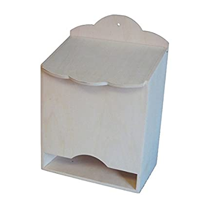 greca Caja para pañales de Madera. En Crudo, para Pintar