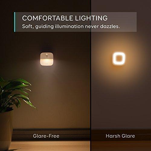 eufy Lumi Plug-in Night Light, Warm White LED Nightlight, Dusk-to-Dawn Sensor, Bedroom, Bathroom, Kitchen, Hallway, Stairs, Energy Efficient, Compact (6 Pack)