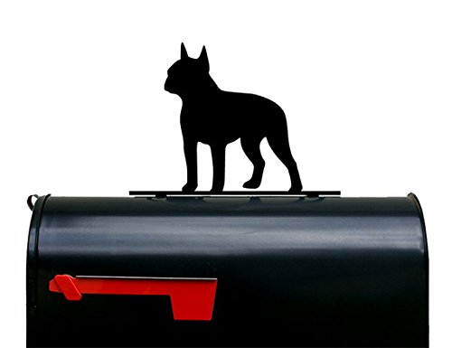 Boston Terrier Dog Mailbox Topper / Plaque / Sign by NewnanMetalWorks