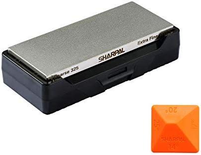 Sharpal 156N SHA156N Diamantschleifstein mit zwei Körnungen, mit Aufbewahrungsbasis