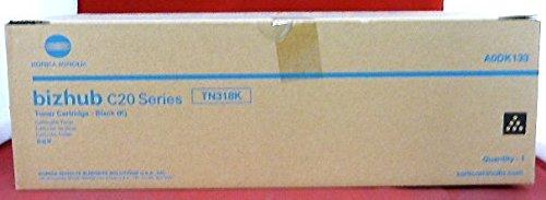 Genuine Konica Minolta TN318K Black Toner Catridge for Bizhub C20 (Konica Minolta Bizhub C20p)