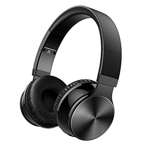 OMORC Audífonos bluetooth de diadema compatibles ,Auriculares Inalámbricos y Pegables, Bluetooth, con Micrófono y Cable de...