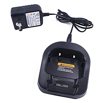 BAOFENG Handheld Transceiver Desktop Battery Charger Base with 10V Output Car Charger Cable Line For Portable Baofeng UV-82 UV-82HP UV-82L Series Two-Way Radios