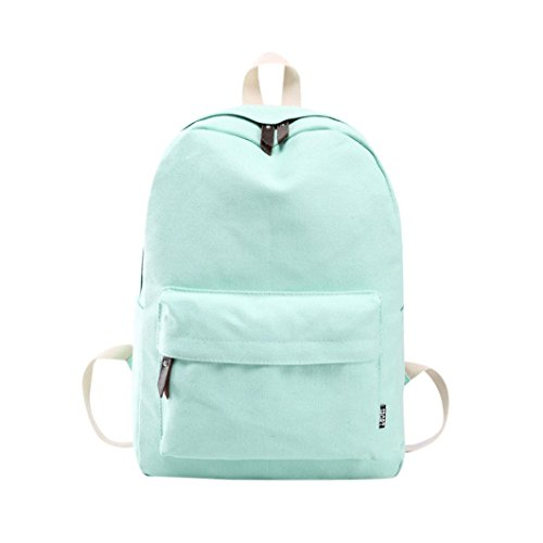 Preppy Shoulder Bags,Sikye Women Girls Teens Flowers Canvas Hand Satchels Fresh Backpack for School Travel (Mint Green)